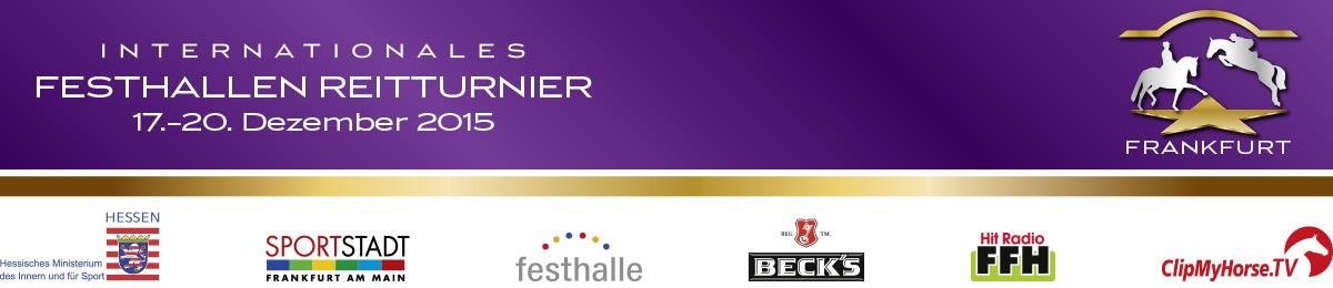 Banner Festhallen Reitturnier Frankfurt 2015