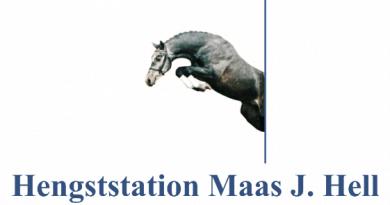 Banner Hengststation Maas J. Hell