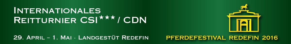 Banner Pferdefestival Redefin 2016