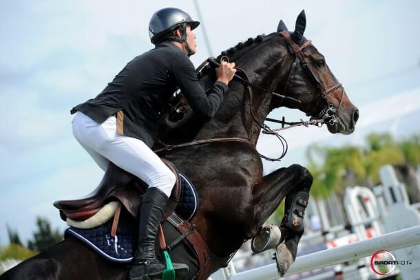 Der Belgier Constat van Paesschen nutzt die Spring MET I in Oliva Nova mit seinen Pferden. (Foto: sportfot)